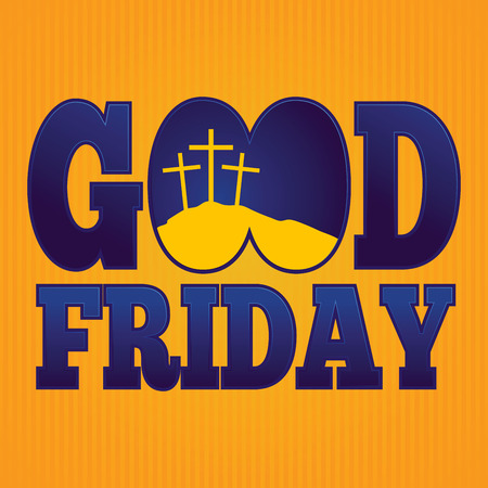 good friday: Vector illustration of simple religious Good Friday background