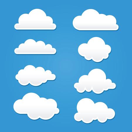 Raccolta di nuvole di forma e dimensioni diverse
