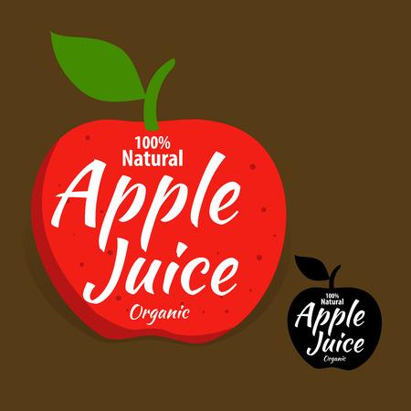 Vector stock of natural organic apple juice