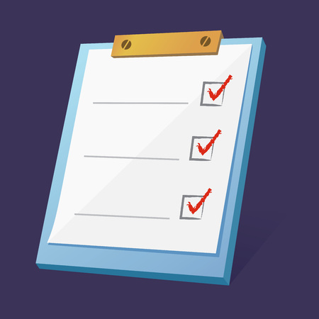 Vector stock of blank to do list check box clipboard