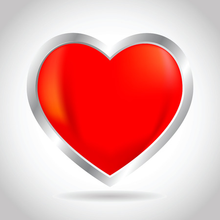 Vector stock of 3D heart and love icon Illustration