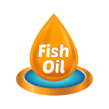 multivitamin: Vector stock of 3D fish oil ingredients icon