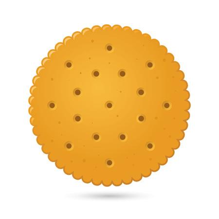 Vector stock ronde biscuit cracker met eenvoudig verlopen