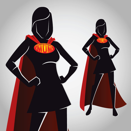 Vector stock of a super mom female hero character