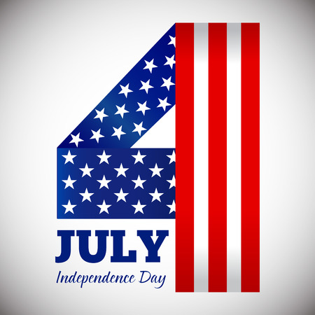 Vector stock of happy fourth of july, independence day symbol