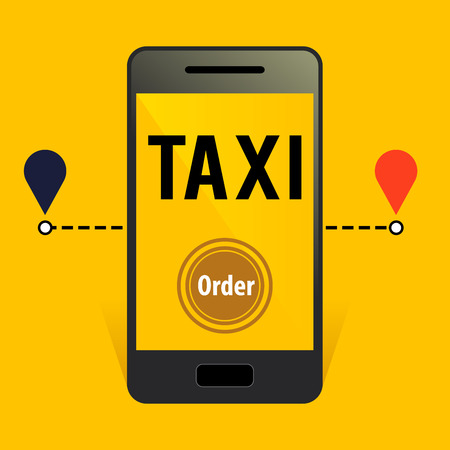 easy going: stock of online taxi order application with smart phone