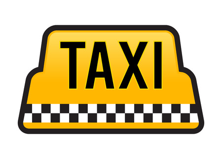 stock car: Vector stock of taxi car roof sign in yellow color