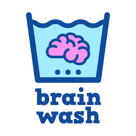 Vector stock of a brain soaked in water, brain washing