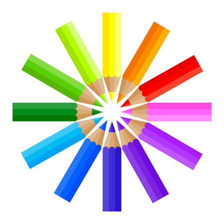 Vector stock of colored pencils forming a circle shape Illustration