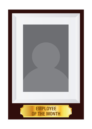 best employee: Vector stock of employee of the month award photo frame template Illustration