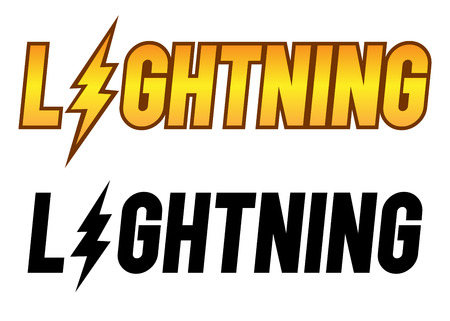 Vector stock of the word lightning, typography art