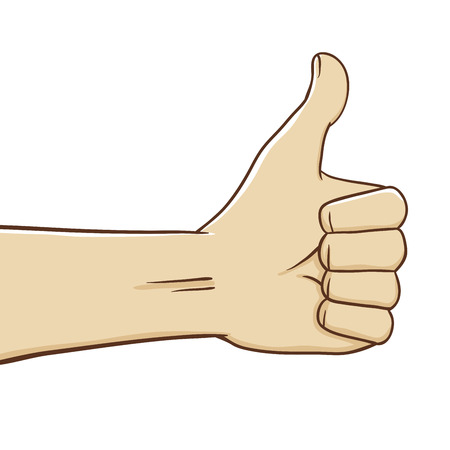 expressing positivity: Vector stock of thumb up hand gesture