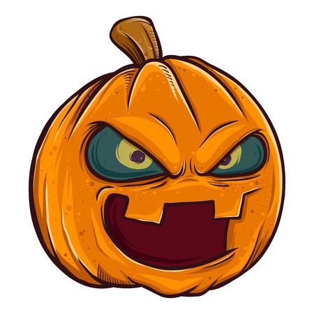 Vector stock of jack o lantern pumpkin head halloween monster