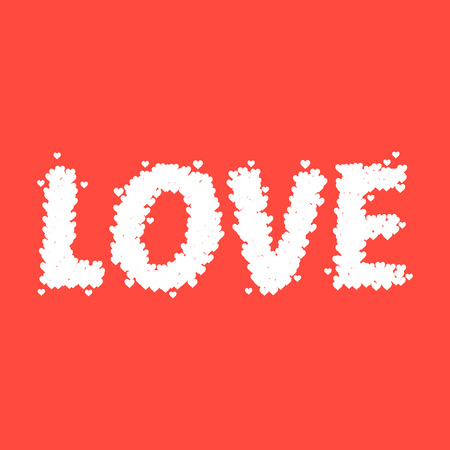 Vector Stock Of Love Typography Design Made From Tiny Heart Symbols