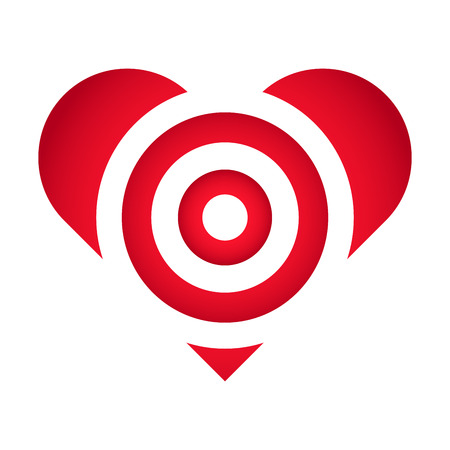 Vector Stock Of Target Practice In Heart Shaped Love Symbol Royalty