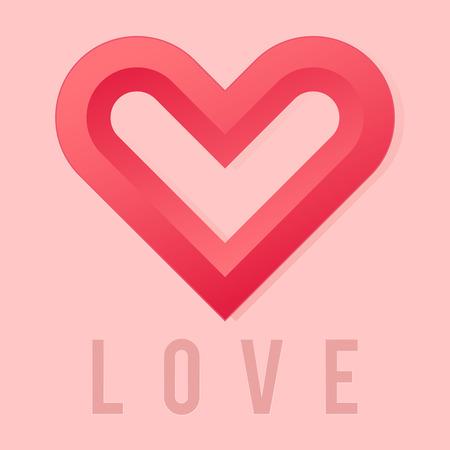 simple logo: Vector stock of a simple modern love logo template Illustration