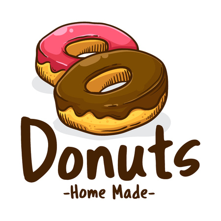 Delicious sweet donuts shop icon