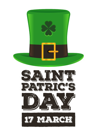 Template for St. Patric's day poster or invitation, vector illustration