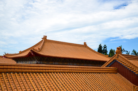 temple roof eaves Stock Photo