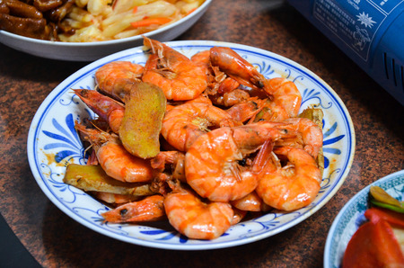 Shrimp Year dishes Home cooking