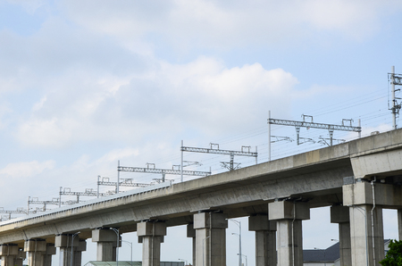 High-speed rail bridge Stock Photo