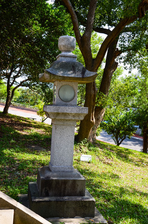 Stone lantern shrine Stock Photo