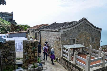 Matsu, Taiwan-JUN 27, 2019: Scenery of Qinbi Village at Matsu, Taiwan.