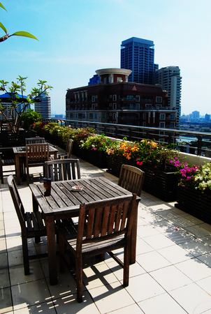 garden city: chair in garden city