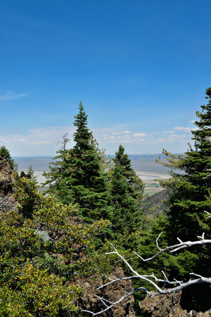 View to the east from the Warner Mountains, Modoc County, California.