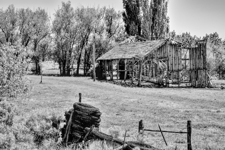Old Broken Wooden Building