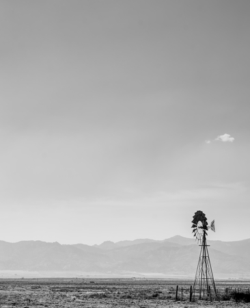 Windmill in Shades of Gray