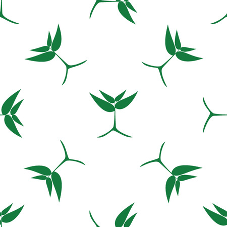 saplings: growing green plants, vector seamless pattern.