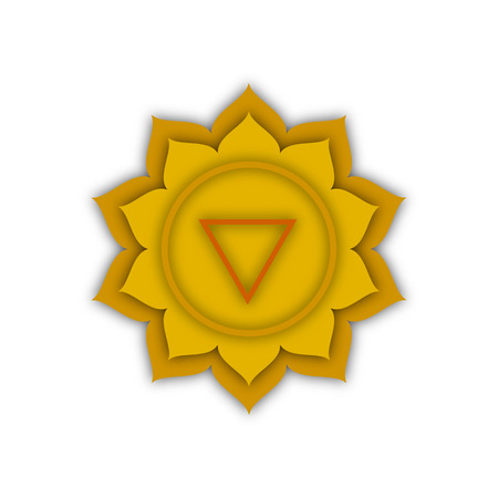 qigong: Manipura, the image of the heart chakra, vector illustration