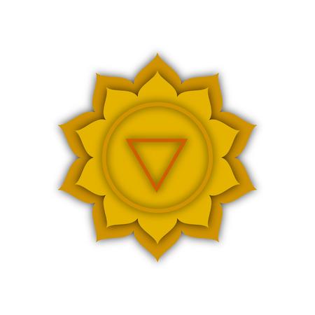 qi: Manipura, the image of the heart chakra, vector illustration