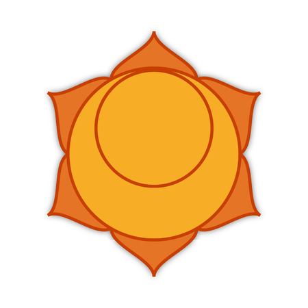 second: symbol of the second chakra, vector  illustration Stock Photo