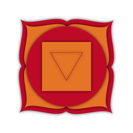 qigong: symbol of the root chakra, vector illustration Stock Photo