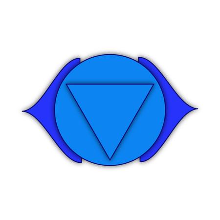 ajna: Ajna. Third eye chakra. Sixth Chakras symbol of human. Illustration. Element human energy system. Illustration isolated on white background.