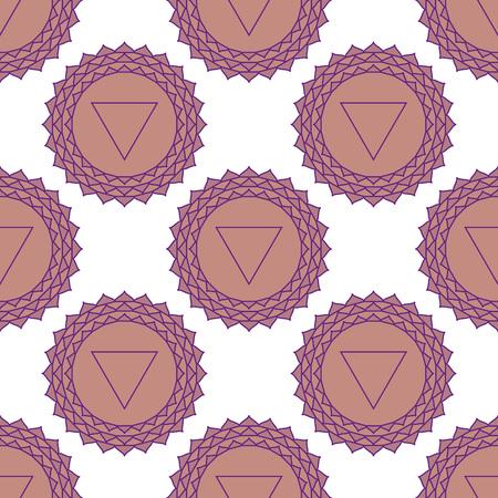 sahasrara: Sahasrara - the crown chakra. The symbol of the seventh chakra. Vector seamless pattern. Illustration
