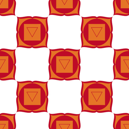 muladhara: Muladhara - root chakra. The symbol of the first chakra. Vector seamless pattern.