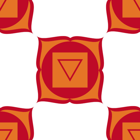 muladhara: Muladhara - root chakra. The symbol of the first chakra.  White, red and orange.