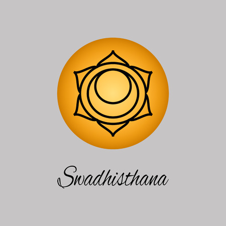 swadhisthana: Swadhisthana.Sacral Chakra. The symbol of the second human chakra.