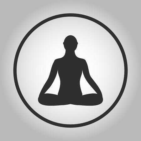 man meditating: Meditation icon