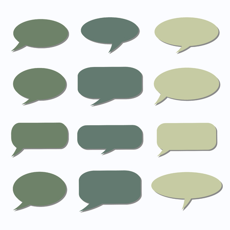 talk balloon: Thought frame. Speech bubble. Dream cloud. Talk balloon. Quote box.  Set of vector illustration icons.