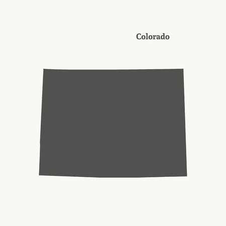 Outline map of Colorado. Isolated vector illustration.