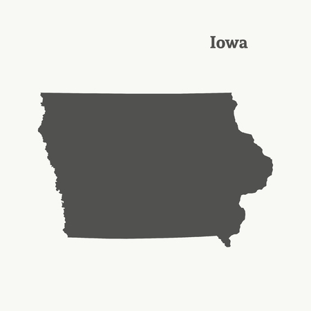 Outline map of Iowa Vectores