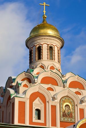 romanov: Cathedral church of Kazan Icon of the Virgin built 1634-1636 by architect Obrosim Maximov. Memorial in honour of the victory over the Poles during the Time of Trouble 1612. Client was tsar Michael Romanov and Patriarch Filaret. Pillarless one-domed church