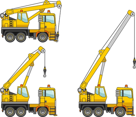 jenny: Detailed illustration of cranes, heavy equipment and machinery