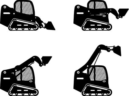 スキッドの詳細な図を操縦ローダー ・重機・機械