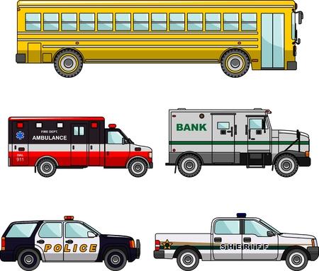 illustration of transportation on white background Ilustracja