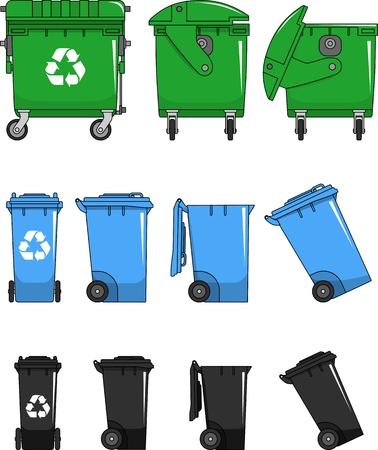 フラット スタイルでゴミ箱の別の亜種  イラスト・ベクター素材